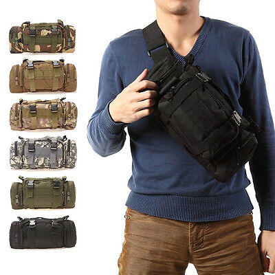 Outdoor Military Backpack 3P Waist Pack Camping Hiking Tactical Pouch Bag