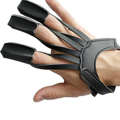 3 Finger Gloves Archery Shooting Hunting 3 Strap Protector Guard Gloves