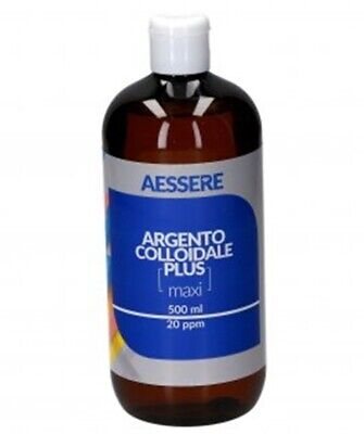 Argento Colloidale plus ionico purificato gocce DISPOSITIVO MEDICO 20 ppm 500 ml