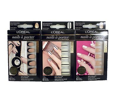 L'OREAL loreal nails a porter 24 glue-on false nails various design