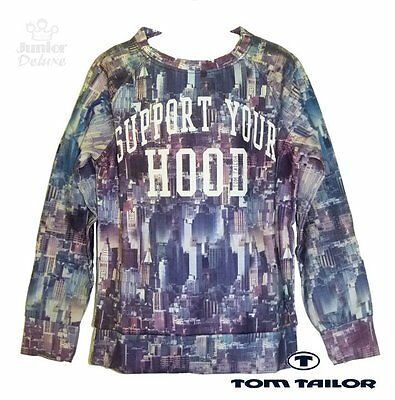 """TOM TAILOR Pullover / Sweater Size 146/152 """"SUPPORT YOUR HOOD"""" NEW"""