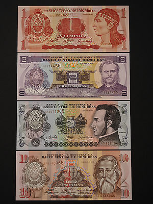 Central America Banknotes  -  Stylish Set Of 4 Notes   *  Superb  Unc  *