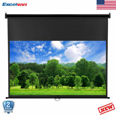 "100"" 16:9 1.2 Gain Wall Ceiling Electric Motorized HD Projector Screen w/ Remote"