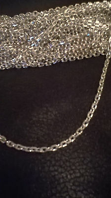 "JEWELLERY FINDINGS CHAINS - 48 x 18"" SILVER COLOURED CHAINS WITH LOBSTER CLASPS"