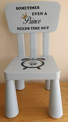 TIME OUT CHAIR -  Decal  ONLY Naughty Chair GIRL BOY KIDS