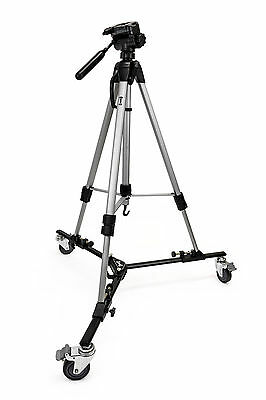 "Opteka M3 Pro Heavy Duty Folding Dolly with 70"" Tripod for Photo & Video Camera"