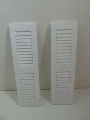 Dolls House Miniature White Shutters (Bu5025Wh)