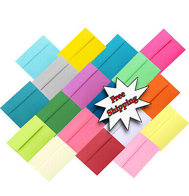 25 Pack A6 Envelopes for 4 x 6 Greeting Card Invitations Announcements Photos