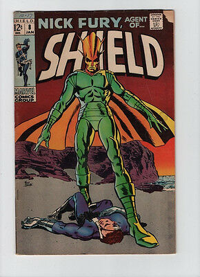 Nick Fury Agent Of SHIELD #8 - Alien Cover - 1968 (Grade 3.5) WH