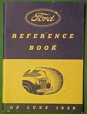 1939 De Luxe Ford Reference Booklet