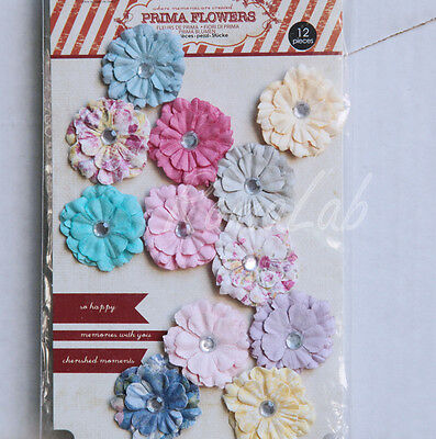 ABBELLIMENTI DECORAZIONI ORNAMENTI PER SCRAPBOOKING FIORI IN CARTA brillantini