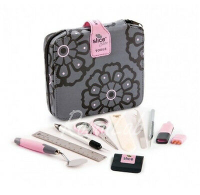 TOOL KIT SLICE ELITE rosa ACCESSORI SCRAPBOOKING 15 PEZZI