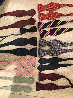 Assorted Lot Of 10 Bow Ties Polo Ralph Lauren Brooks brothers Barneys Jos A Bank