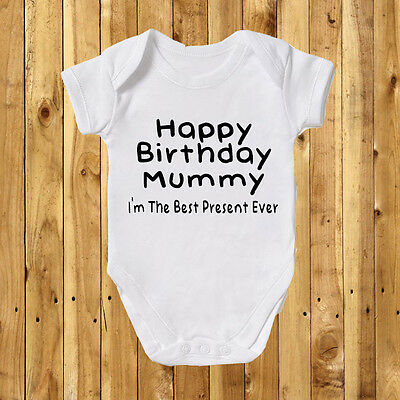 Happy Birthday Mummy Baby Grow Bodysuit Boy Gift Funny Cute Present Daddy Top 60 Wishes For Son Gifts From