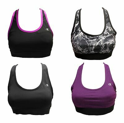 Champion Racerback Sports Bra for Women - Removable Cups & Comfort Support Band