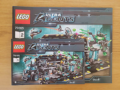 LEGO ULTRA AGENTS - 70165 Ultra Agents Mission HQ  - INSTRUCTION MANUAL ONLY