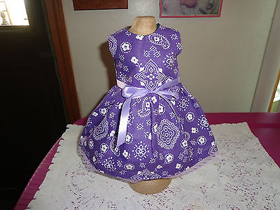 doll clothes for 18 inch american girl white paisley on dark purple homemade 256