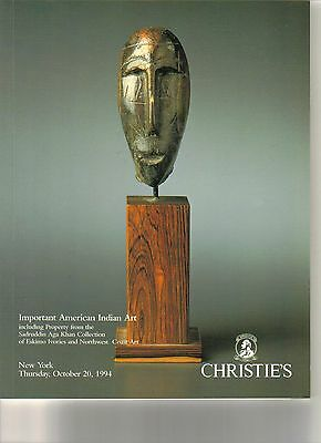 CHRISTIE'S AMERICAN INDIAN ART Eskimo Ivories Aga Khan Collection Catalog 1994