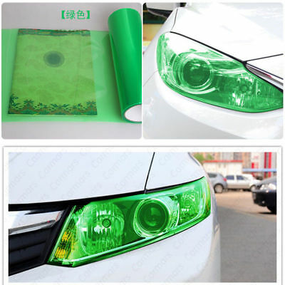 "Royal Green12"" x 48"" Car Headlight Taillight Fog Wrap Cover Vinyl Film Tint Cool"