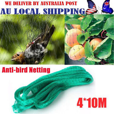 Commercial Fruit Tree Plant Knitted Anti Bird Netting Pest Net Mesh 4x10M AU