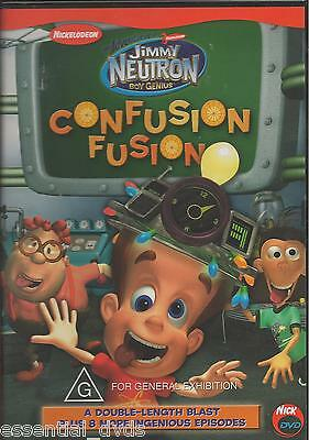 Jimmy Neutron Confusion Fusion New DVD Region 4 Sealed