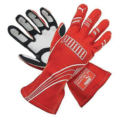 Puma Avanti Race/Rally/Track Gloves Red Size 9 Small FIA Approved