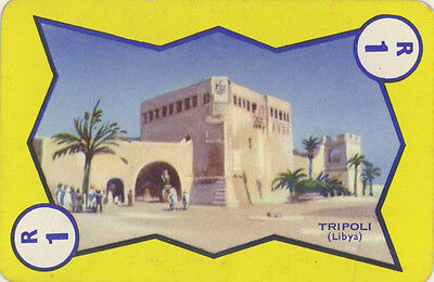 Vintage Single Swap Game Card: Tripoli, Libya.