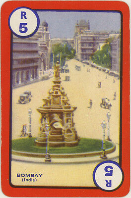 Vintage Single Swap Game Card: Bombay, India.