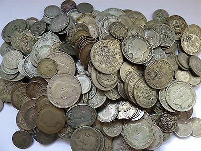 George V and George VI 0.500 Silver pre 1947 coins 0.8kg 800g Collect or Scrap