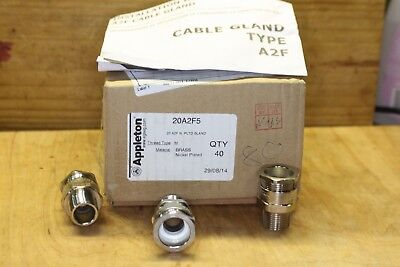 APPLETON 20A2F5 CABLE GLAND 6.5 - 14 mm METRIC 20 BOX of 40 pcs