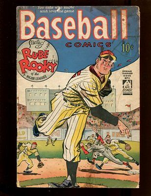 Baseball Comics #1 VG Will Eisner Rube Rooky 1949 Rookie Pictures Babe Herman