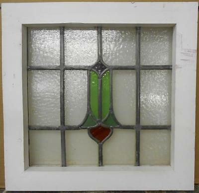 "OLD ENGLISH LEADED STAINED GLASS WINDOW Cute Abstract Design 16.75"" x 16.5"""