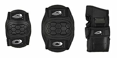 Osprey skate cycle knee elbow wrist protection pads set for kids - black, small