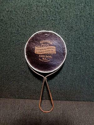 Advertising Souvenir Pocket Mirror 1920's Universal Theater Concessions Chicago