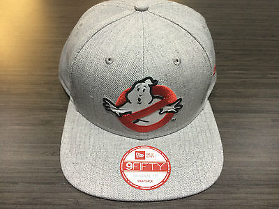 New Era Cap Hat Ghostbusters Logo Heathered Snapback Hat 9Fifty Original Fit OS