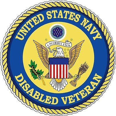 Us Navy Disabled Veteran Bumper Sticker Laptop Sticker Round Window Sticker
