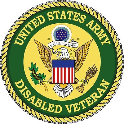 Us Army Vet Disabled Veteran Bumper Sticker Laptop Sticker Round Window Sticker