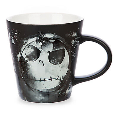 Disney Parks Jack Skellington Splatter Art Ceramic Coffee Mug 12oz New