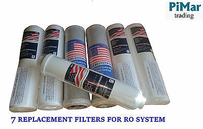 7 Replacement Filters Set For 4 Or 5 Stage Reverse Osmosis  Ro System