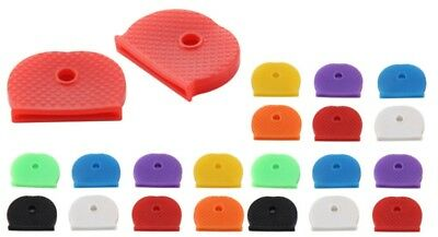 24 PACK Coloured KEY TOP COVERS Head/Caps/Tags/ID Markers MIXED TOPPERS