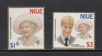 QUEEN MOTHER/PRINCE WILLIAM - Niue - 2000 set of 2-(SC 746-7)-MNH-X737