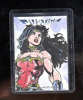2016 Cryptozoic DC Justice league JEZ sketch card #2