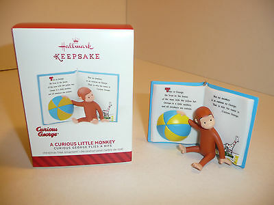 NEW - A Curious Little Monkey Holiday Ornament - George Christmas Hallmark