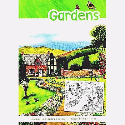 Gardens Adult Colouring Book (New Mindfulness Anti-Stress Relaxing Craft P/B)