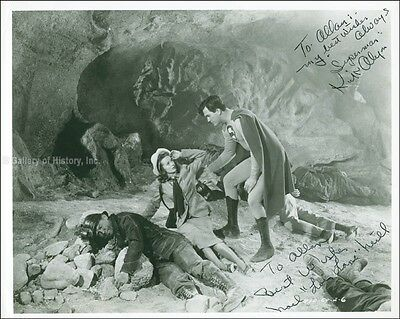 Superman Movie Cast - Inscribed Photo Signed Co-Signed By: Noel Neill, Kirk Alyn