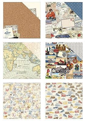 "Authentique Explore Double-Sided Cardstock 12""X12"" versch. Motive 30,5x30,5 cm"