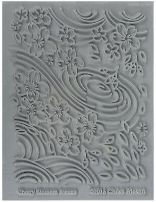 Lisa Pavelka Texture Stamp Mold Sheet Surface Imprinting Cherry Blossom