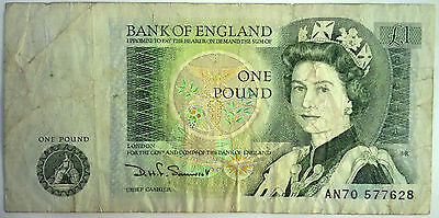 One Pound £1 Note with Isaac Newton  Bank of England