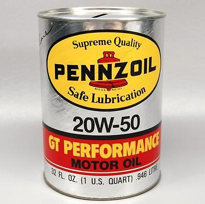 Pennzoil Motor Oil Can Bank - 20W-50 Gt Performance 1 Quart - Rick Mears