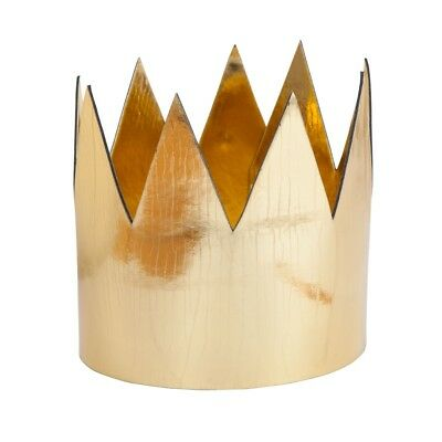 Gold Crown Metallic King Queen Royal Fancy Dress Costume Accessory